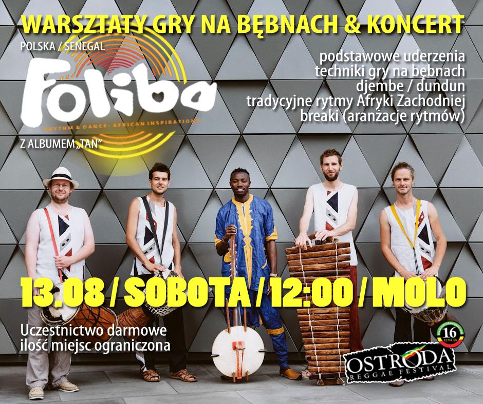 WARSZTATY GRY NA BĘBNACH & KONCERT FOLIBA (Polska / Senegal)