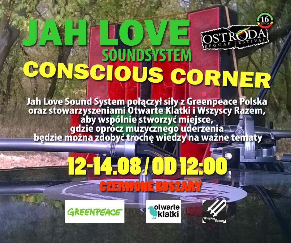 JAH LOVE SOUNDSYSTEM CONSCIOUS CORNER