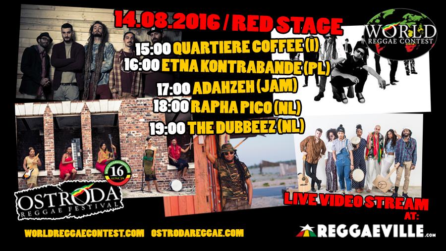 Kolejność występów World Reggae Contest 2016