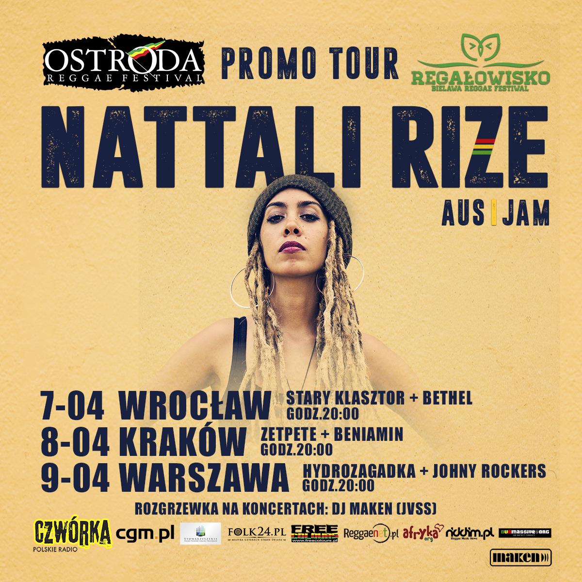Ostróda Reggae Festival & Festiwal Regałowisko Bielawa łączą siły we wspólnym promo tour z Nattali Rize