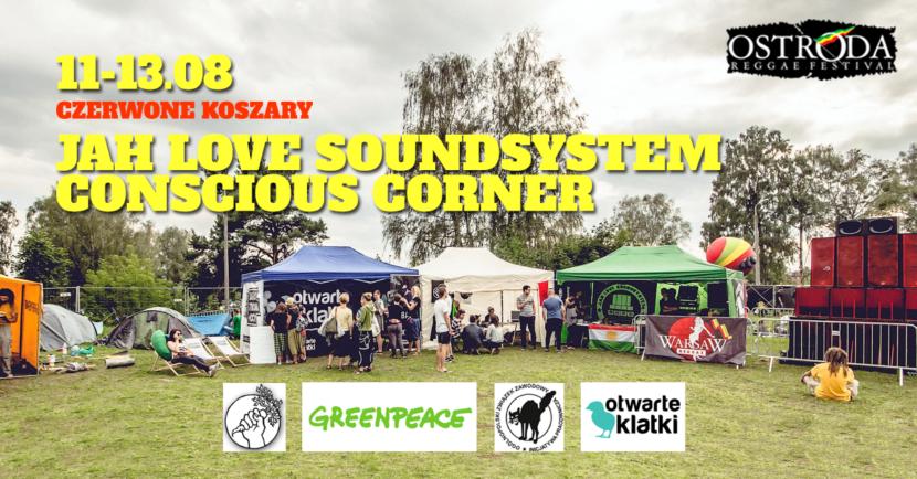 Jah Love Conscious Corner na festiwalu