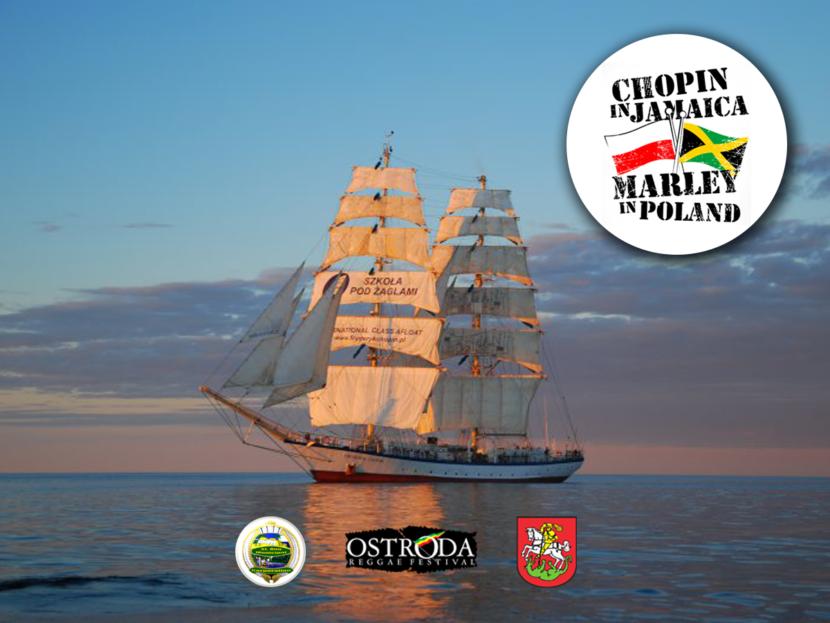 Żaglowiec Fryderyk Chopin reprezentuje Ostródę na Jamajce